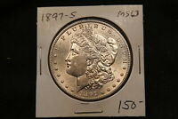 1897 S UNITED STATES SILVER MORGAN DOLLAR MS63 CHOICE UNCIRCULATED