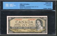 1954 $20 BANK OF CANADA.  AE REPLACEMENT CCCS CHOICE UNC63. BC 41BA. BV $750