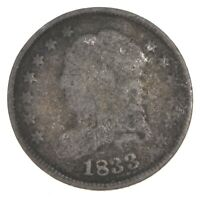 RARE   1833 CAPPED BUST HALF DIME   TOUGH TO FIND   US EARLY
