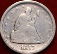 1875 S SAN FRANCISCO MINT TWENTY CENT SILVER COIN