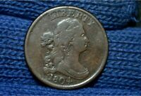 1804 HALF CENTSPIKED CHINC8VF CHOICE BROWN