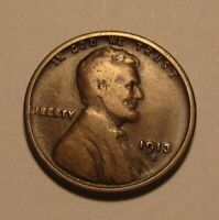 1913 S LINCOLN CENT PENNY   VERY GOOD TO FINE CONDITION   8F