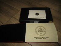 2007 CANADA SILVER PROOF SET   RCA 200 MINTED LIMITED EDITION GOLD PLATED DOLLAR
