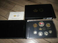 2015 CANADA .9999 FINE SILVER PROOF 7 COIN SET. COLORIZED FLAG DOLLAR. NO GST