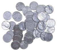 1943 STEEL CENT   WWII   50 COINS   ENTIRE ROLL COLLECTION L