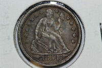 1854-O NET  FINE SCRATCHED SEATED LIBERTY SILVER DIME WITH ARROWS SLD697