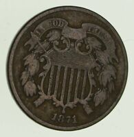 1871 TWO CENT PIECE   CIRCULATED  2830