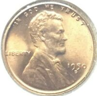 1950 D LINCOLN WHEAT CENT ALMOST BU IT MIGHT HAVE DOUBLING ON THE DENVER MINT D