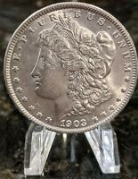 1903-P MORGAN SILVER DOLLAR ALMOST UNCIRCULATED - BU