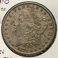 1878 $1 MORGAN SILVER DOLLAR 7TF REVERSE OF 1879 53379