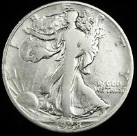 1928-S WALKING LIBERTY HALF.  BETTER GRADE.INV.A