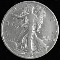 1928-S WALKING LIBERTY HALF.  BETTER GRADE.  INV.A