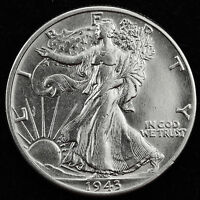 1943-P WALKING LIBERTY HALF.   BU.   INV.E