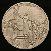 1624 1924 ST. JOSEPH MEDAL OF THE CONSECRATION CANADA. 62 MM 29 GRAMS. WITH BOX