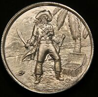PRIVATEER SERIES  THE CAPTAIN PRIVATEER   ULTRA HIGH RELIEF 2 OZ SILVER COIN