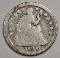1849-O LIBERTY SEATED HALF DIME.  V.G.  143045