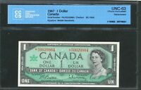 1967 BANK OF CANADA $1 REPLACEMENT NOTE  NO 0029864. UNC 63 CCCS. BC 45BA.
