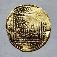 MARINIDS GOLD DINAR FRACTION ISLAMIC PURE GOLD COIN EXTRA  MERINIDE 2.03G