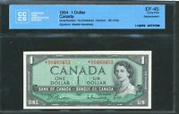 1954 $1 BANK OF CANADA REPLACEMENT BANKNOTE  DO. CCCS EF 45. BC 37BA.
