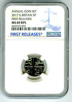 2017 GREAT BRITAIN 5P NGC MS69 DPL DEEP PROOF LIKE FIRST REL