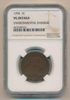 1794 FLOWING HAIR LARGE CENT. NGC VG DETAILS