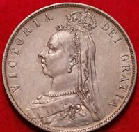 1892 GREAT BRITAIN 1/2 CROWN SILVER FOREIGN COIN