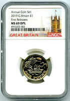 2019 GREAT BRITAIN 1 12 SIDED POUND NGC MS69 DPL FR TOP GRAD
