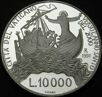 VATICAN 10000 LIRE 1997 PROOF   SILVER   HOLY YEAR 2000 CALM