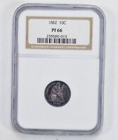 PF66 1882 SEATED LIBERTY DIME - NGC GRADED 2041