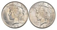 LOT 2 1928 & 1928-S PEACE SILVER DOLLARS - UNCIRCULATED 3066