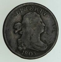 1803 DRAPED BUST HALF CENT - CIRCULATED 5027