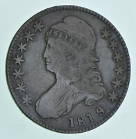 1819/8 CAPPED BUST HALF DOLLAR - LARGE 9 6042