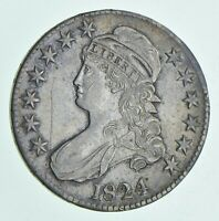 1824 CAPPED BUST HALF DOLLAR 6121