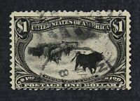 CKSTAMPS: US STAMPS COLLECTION SCOTT292 $1 USED SHORT PERFS