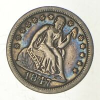 1847 SEATED LIBERTY DIME   GREENBERG COIN COLLECTION  003