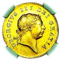 1809 KING GEORGE III GREAT BRITAIN GOLD HALF 1/2 GUINEA COIN