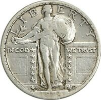 1924-D STANDING LIBERTY QUARTER EF UNCERTIFIED