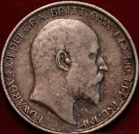 1910 GREAT BRITAIN 6 PENCE SILVER FOREIGN COIN