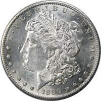 1890 S $1 MORGAN SILVER DOLLAR COIN AU/BU ABOUT UNCIRCULATED / UNCIRCULATED