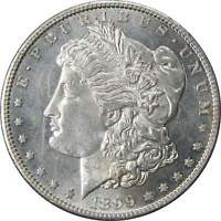 1899 S $1 MORGAN SILVER DOLLAR COIN AU/BU ABOUT UNCIRCULATED / UNCIRCULATED