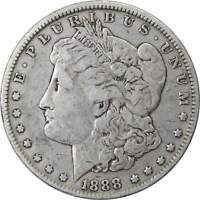 1888 O VAM 4 HOT LIPS $1 MORGAN SILVER DOLLAR COIN F FINE