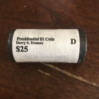 2015 D DENVER UNITED STATES MINT HARRY S. TRUMAN PRESIDENTIAL $1 COINS $25 ROLL