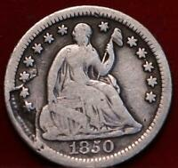 1850 O NEW ORLEANS MINT SILVER SEATED HALF DIME
