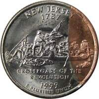 1999 D 25C NEW JERSEY STATE QUARTER COIN CLAD LAYER MISSING