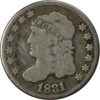 1831 5C CAPPED BUST SILVER HALF DIME COIN VG  GOOD
