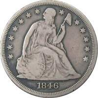 1846 O $1 SEATED LIBERTY SILVER DOLLAR COIN F FINE