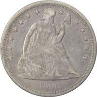 1860 O $1 SEATED LIBERTY SILVER DOLLAR COIN VF  FINE