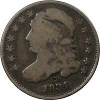 1835 10C CAPPED BUST SILVER DIME COIN VG  GOOD