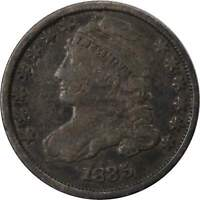 1834 10C CAPPED BUST SILVER DIME COIN AG ABOUT GOOD