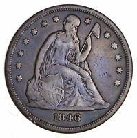 1846-O SEATED LIBERTY SILVER DOLLAR - CIRCULATED 1220